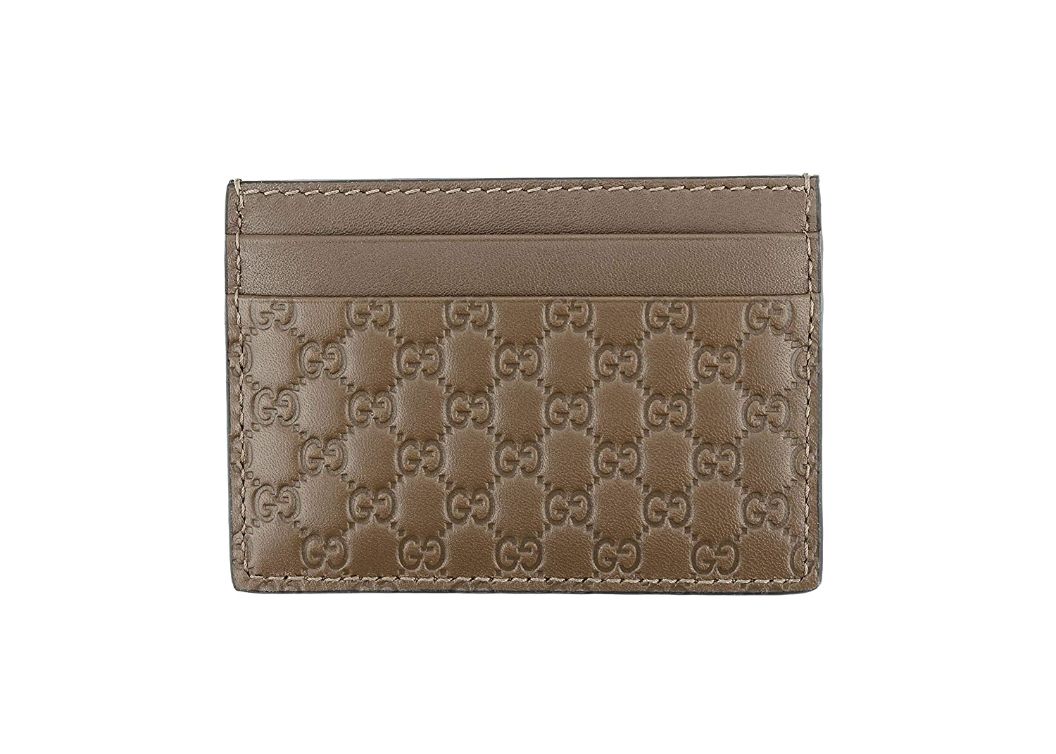 8a7694ee506a Gucci Microguccissima Signature Leather Card Case Wallet, Mid-Brown 262837  at Amazon Men's Clothing store: