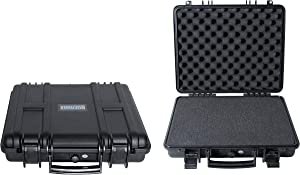 Durabox All Weather Travel Hard Case with Customizable Foam for Cameras, Lenses, Laptops, Guns, Pistols and more (Medium 16 x 14 x 4