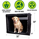 Hyper Pet Home and Away Folding Crate for Dogs (Airline Approved Pet Carrier Available in Small, Medium and Large Sizes)