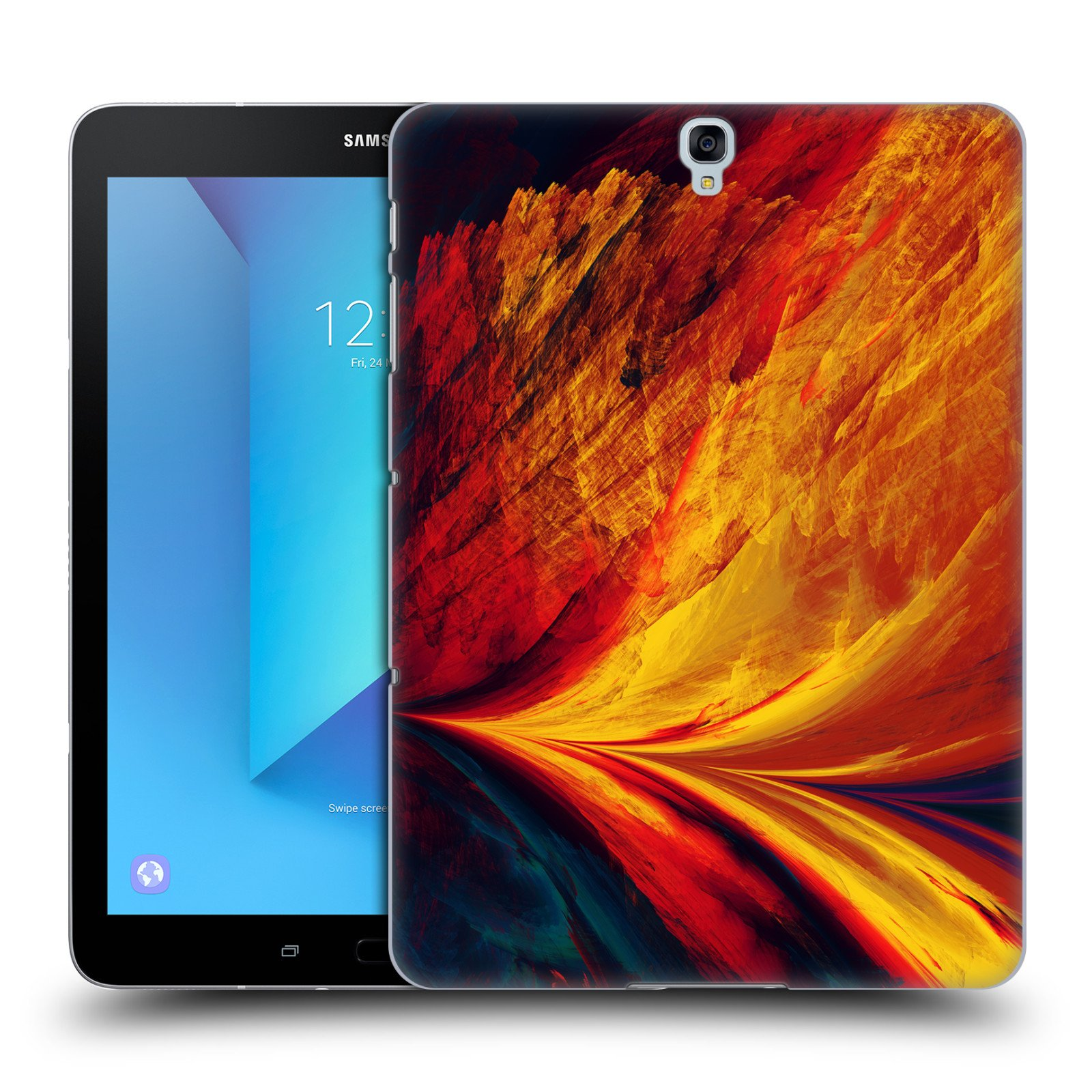 Official Andi GreyScale Arc Solar Flames Hard Back Case for Samsung Galaxy Tab S3 9.7