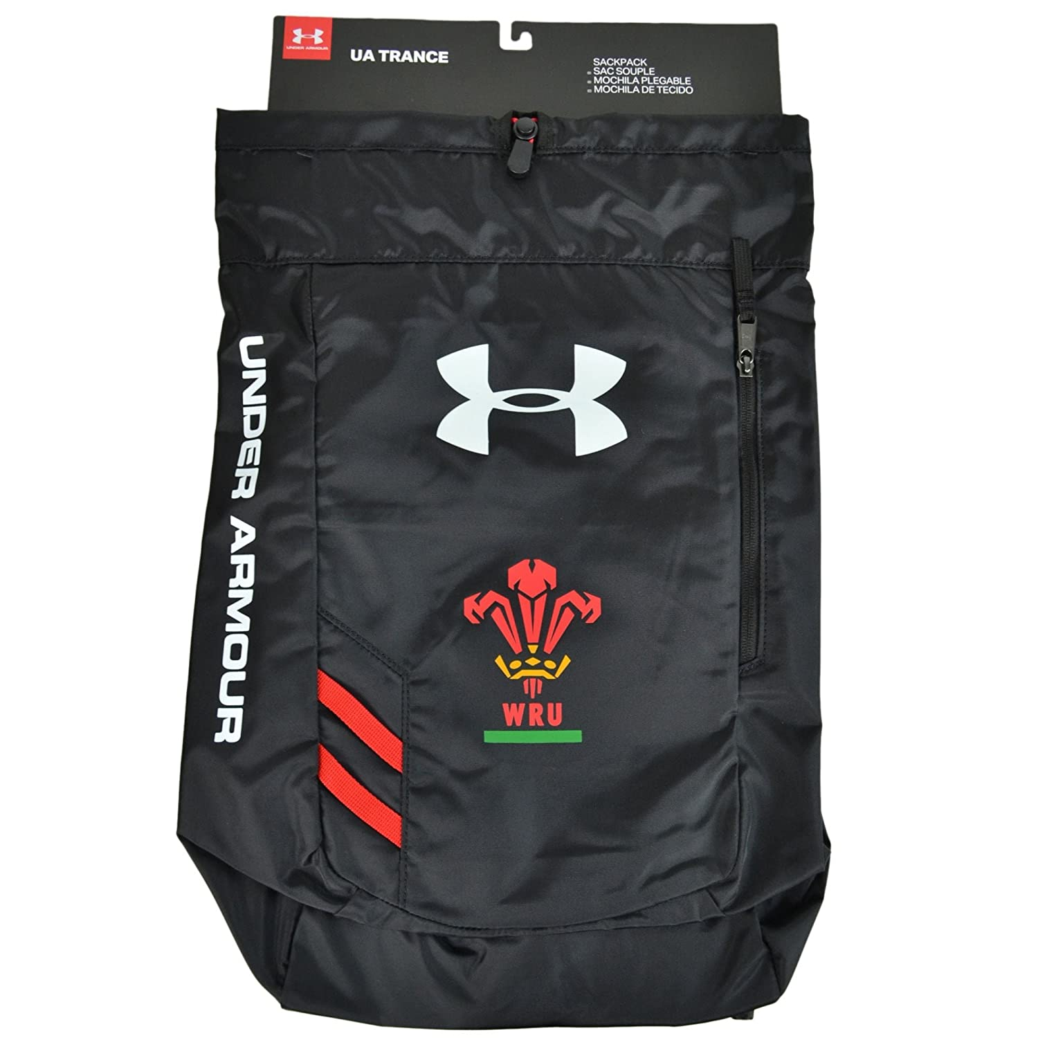 Amazon.com: Under Armour 2018-2019 Wales Rugby WRU Trace Gym Bag (Black): Sports & Outdoors