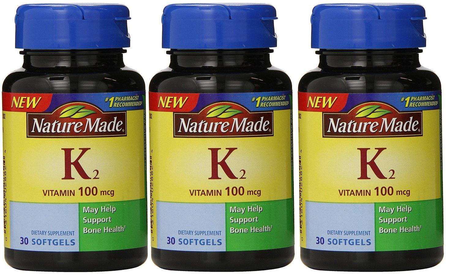 Nature Made Vitamin K2 100 mcg Softgels 30 (3) by Nature Made (Image #1)