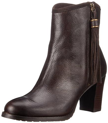 Lauren by Ralph Lauren Women's Carah Boot, Brown Veg Tumbled Pull Up, ...