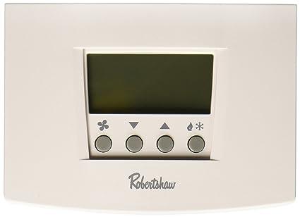 robertshaw rs6220 2 heat/2 cool digital 7 day programmable thermostat heat  pump, single
