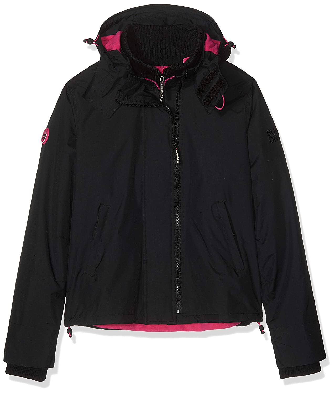 Superdry Women's Arctic Hooded Pop Zip SdWindcheater Jacket, Multicolour (Black Raspberry 27b), 16 (Size  18)