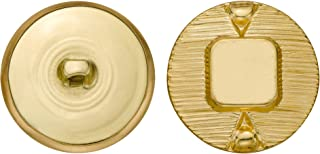 product image for C&C Metal Products 5111 Modern Metal Button, Size 45 Ligne, Gold, 36-Pack