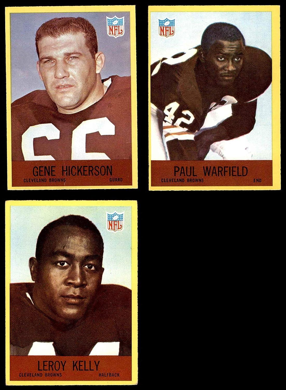 1967 Philadelphia Cleveland Browns Team Set Cleveland Browns-FB (Baseball Set) Dean's Cards 6 - EX/MT Browns-FB 81tiY0s622BLSL1500_