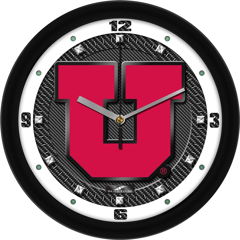 SunTime Carbon Fiber Textured Wall Clock
