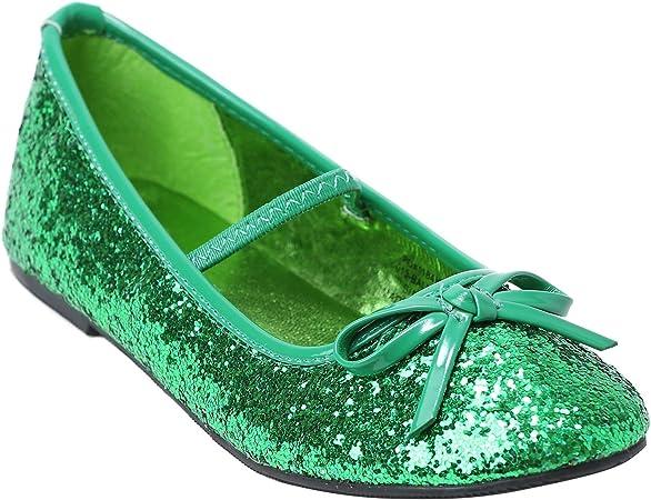 Ellie Womens Girls Green Glitter Ballet