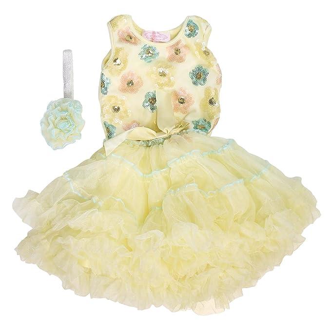 7e1a44f6fb56 Amazon.com: Popatu Sleeveless Dress with Headband for Girls: Clothing
