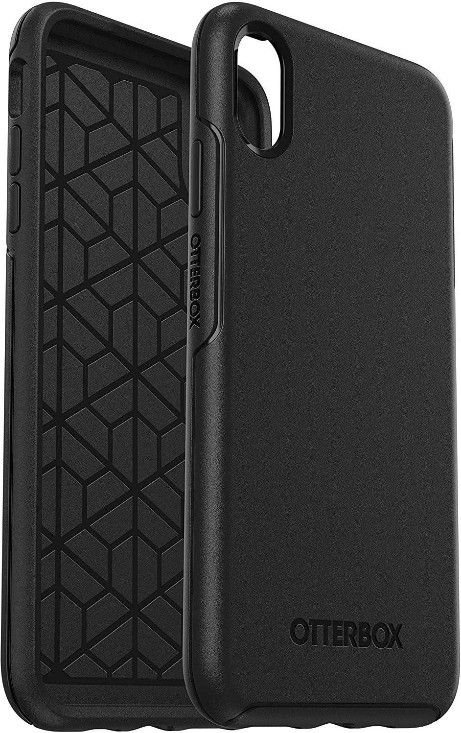 Funda Anti ca/ídas Fina para iPhone XR Otterbox Symmetry Negro