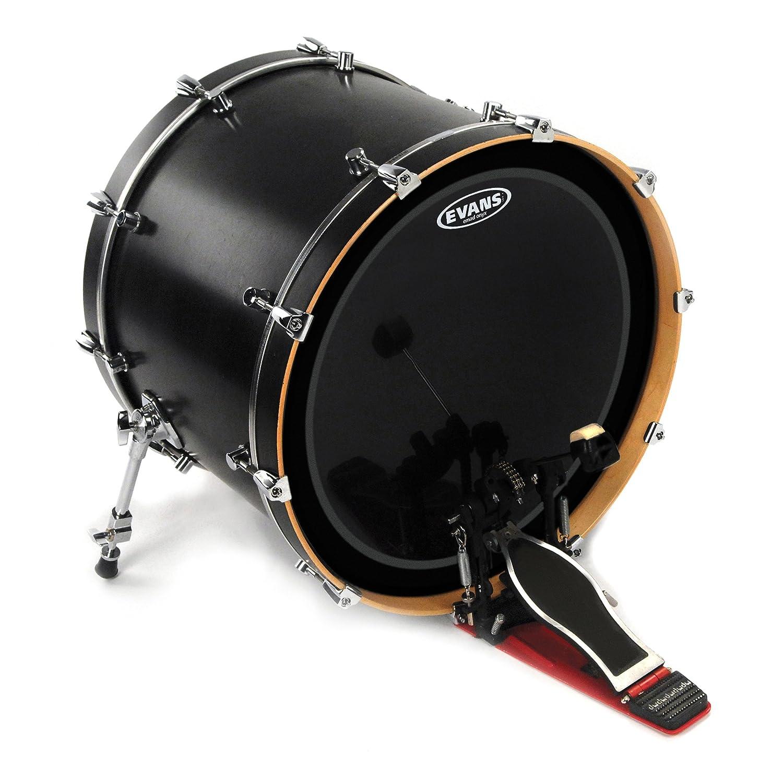 Evans EMAD Onyx Bass Drum Head, 20 Inch - BD20EMADONX Evans Heads
