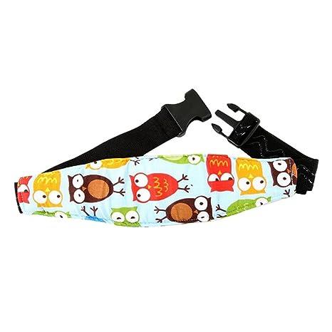 Soporte de seguridad para la cabeza de los bebés en el coche adorable patrón de búho