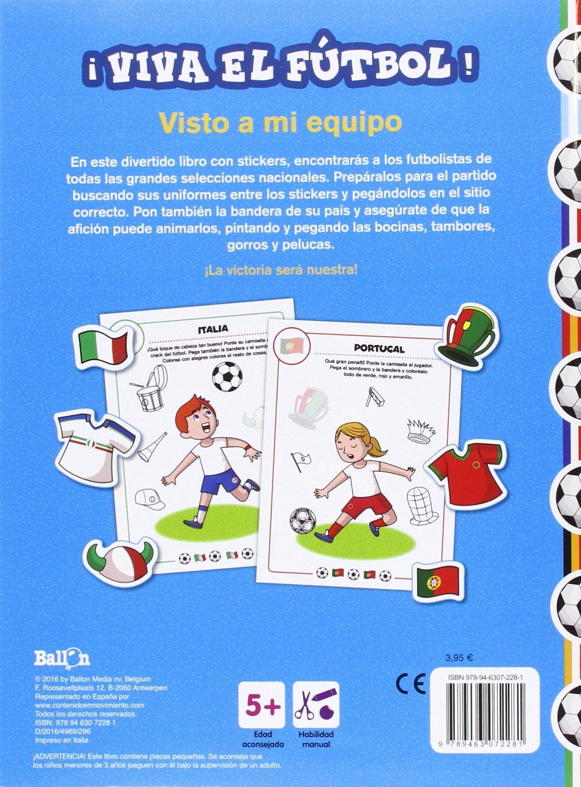 ¡Viva el fútbol! - Visto a mi equipo: Ballon: 9789463072281: Amazon.com: Books