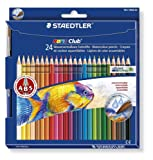 Noris Club 18.4 x 1.2 x 19.8 cm Aquarell Qatercolour Pencils with Paint Brush 144 10NC24, Assorted, Pack 24