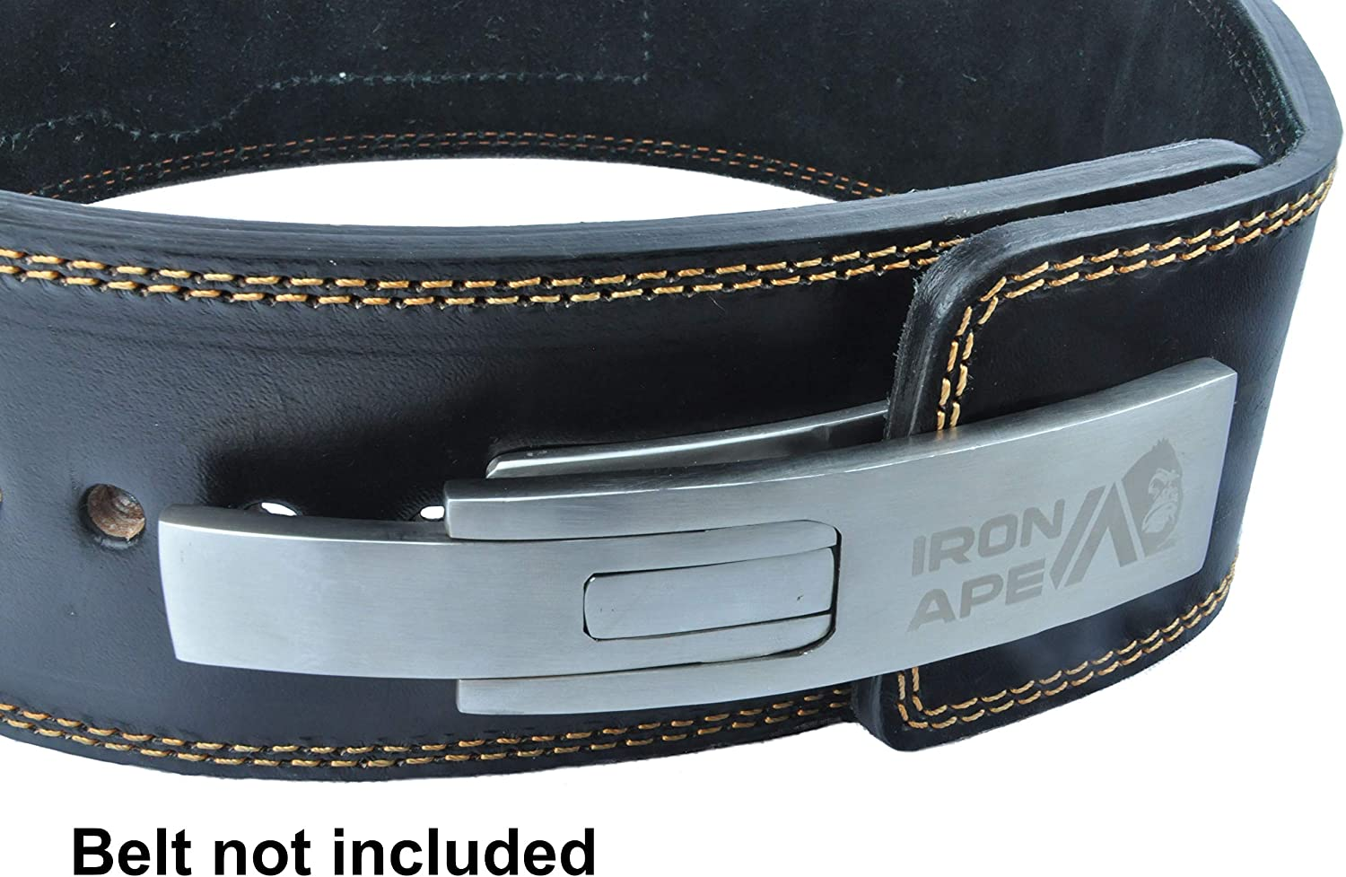 IRON TANKS LEVER BELT BUCKLE WEIGHTLIFTING POWERLIFTING S147 BRUSHED STEEL