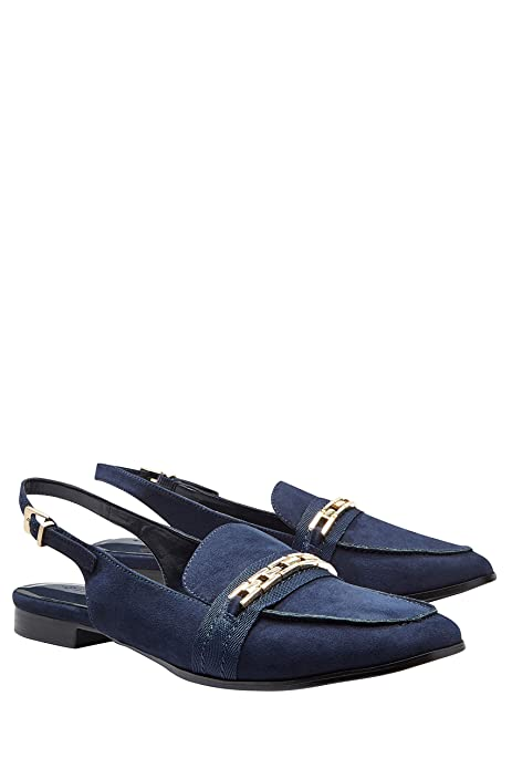 next Mujer Zapatos Zapatillas Estilo Mocasines Tira Trasera con Cierre De Hebilla: Amazon.es: Zapatos y complementos