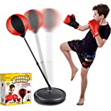Punching Bag Set for Kids Included Punching Ball with Stand,Boxing Training Gloves,Hand Pump and Adjustable Height Stand,Boxi