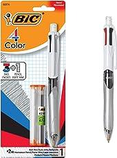 BIC 4-Color 3+ 1–Bolígrafo y lápiz, punto medio (1.0mm), 0.7mm plomo, varios colores Tintas, 3paquetes