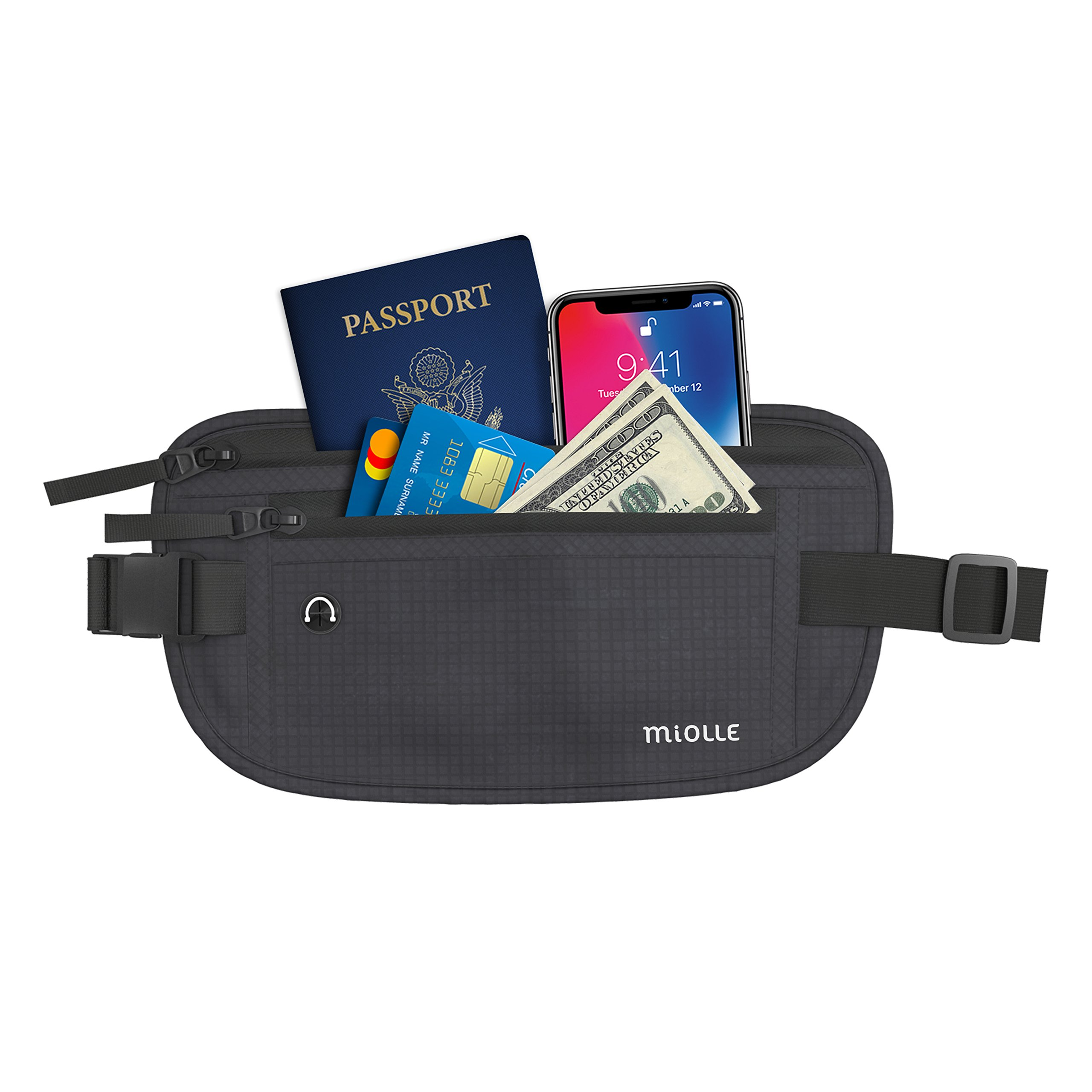 Money Belt for Travel RFID Waterproof - Running Pack - Waist Pack - Hidden Wallet - Travel Wallet - Security Money Belts