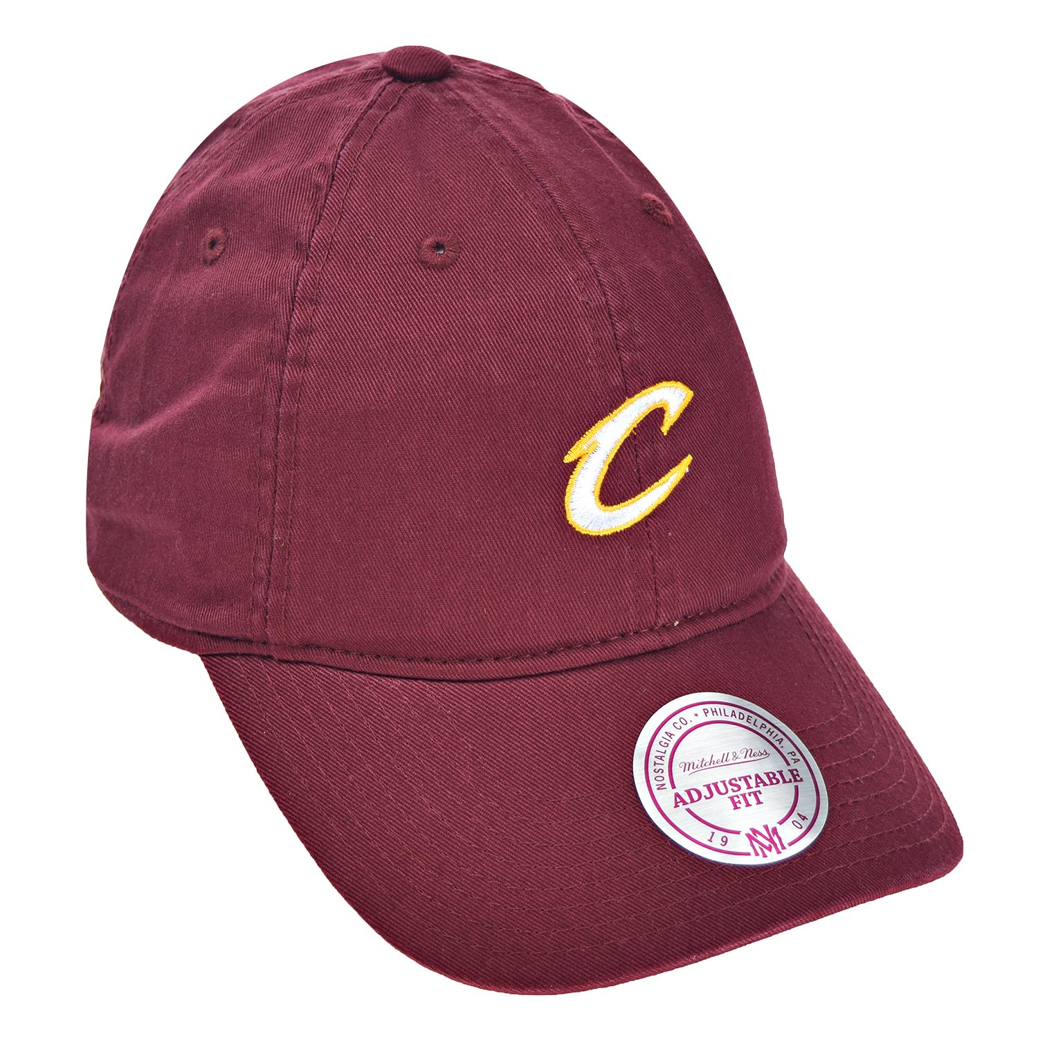 e313a61224f Amazon.com  Cleveland Cavaliers NBA Mitchell   Ness Cotton Adjustable  Backstrap Dad Hat  Sports   Outdoors