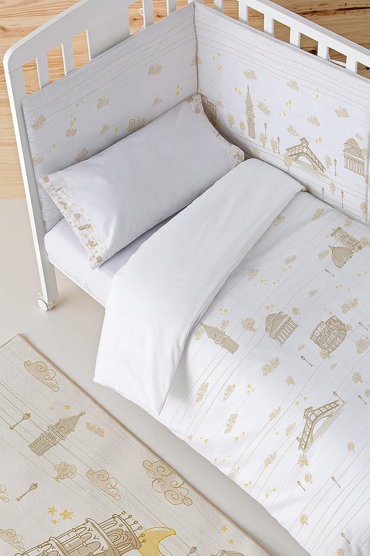 90 x 110 cm Alfombra Eiffel Baby Alemania color beige
