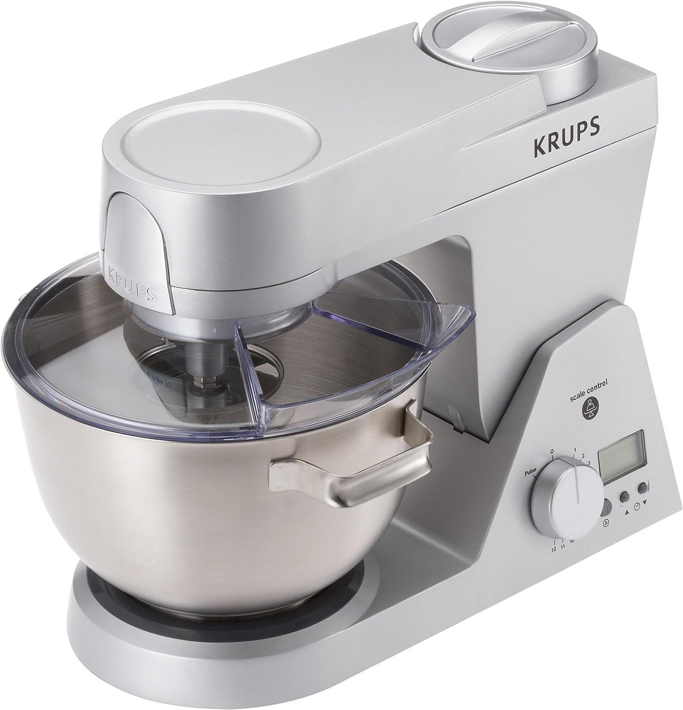 Krups KA 950, Acero inoxidable, Blanco, 1200 W, 230 V, 50 Hz, Metal, Plástico, Acero inoxidable, Metal - Robot de cocina: Amazon.es: Hogar
