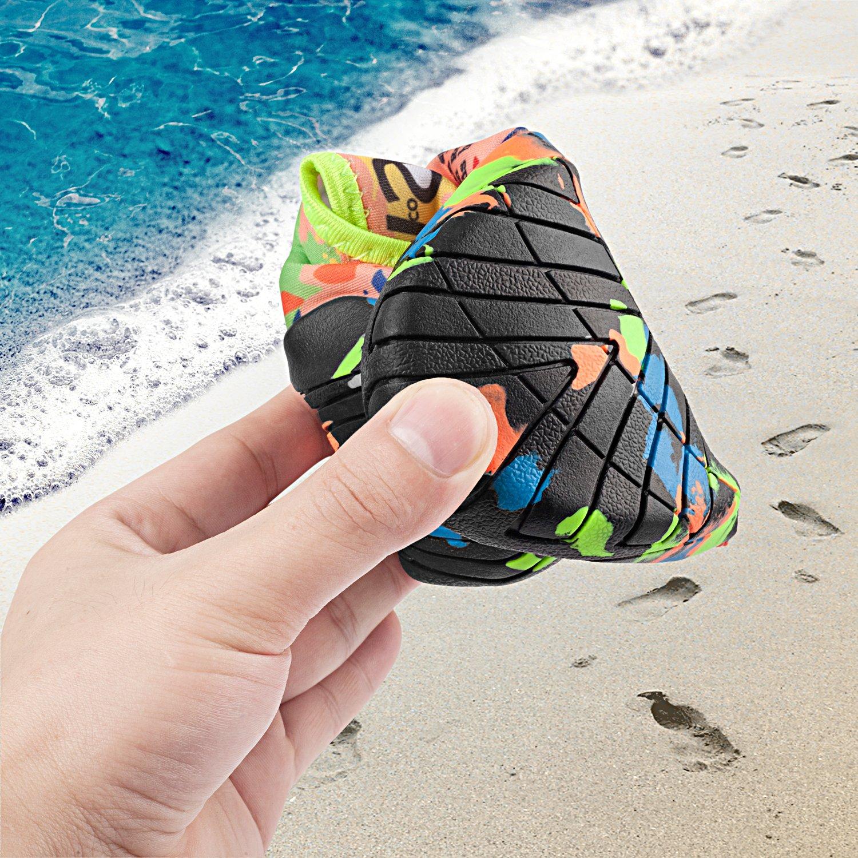 LEADFAS Scarpe da Immersione Infradito e Ciabatte da Spiaggia Quick Drying Suole Antiscivolo Uomo Unisex Calzini per Immersione Calda per Scarpe da Pesca Surf Esercizio Scarpe Skin Trainer