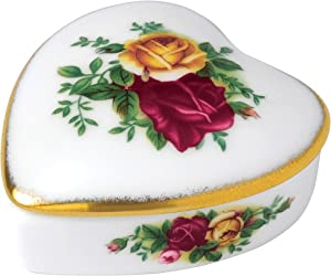 Royal Albert Old Country Roses Heart Box, Multi