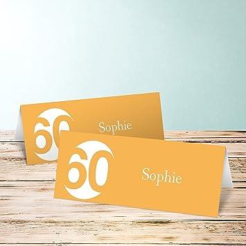 Tischkarten 60 Geburtstag Runde 60 140 Karten Horizontale
