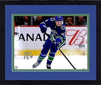9e087e300 Framed Elias Pettersson Vancouver Canucks Autographed 16 quot  x 20 quot   NHL Debut Skating Photograph -