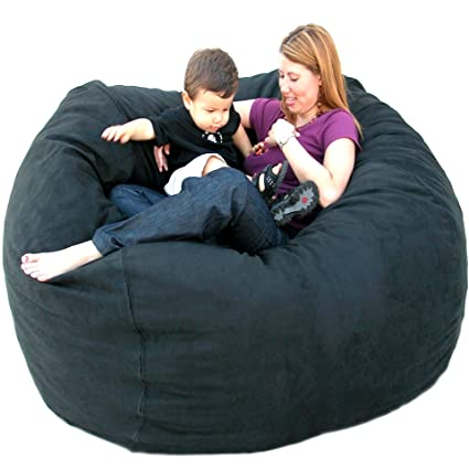 Awesome Cozy Sack 5 Feet Bean Bag Chair, Large, Black