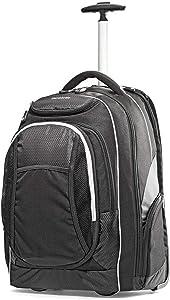 Samsonite Tectonic Wheeled Backpack, Black, 17-Inch