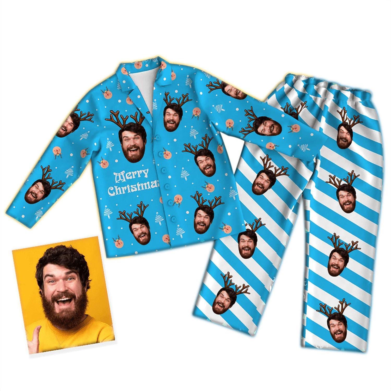 Qingge Conjunto de Pijama Personalizado con Foto ...