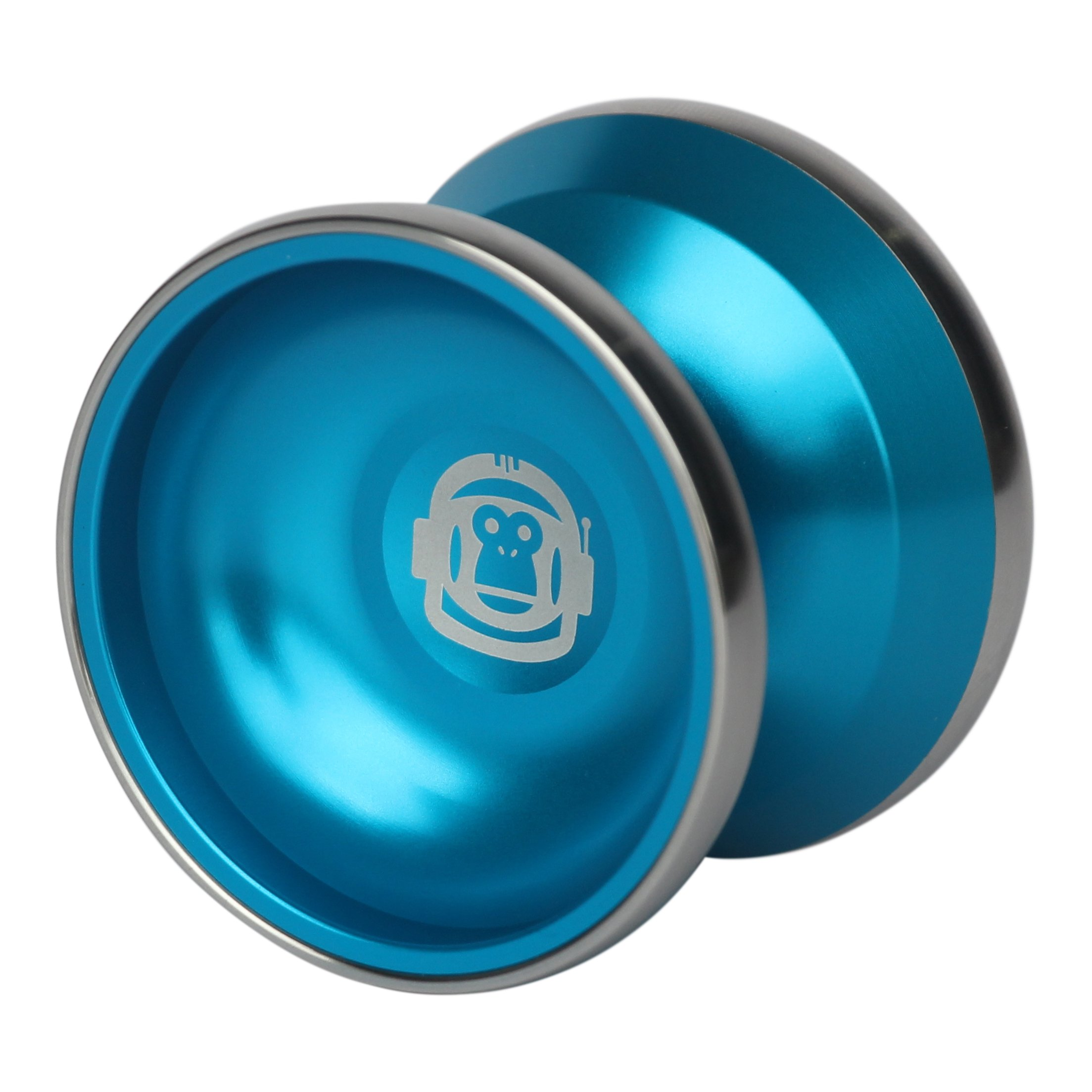 Spintastics Space Monkey Professional Bimetal Aluminum Steel Yoyo with Long Spin Ball Bearing Axle and Extra String by Spintastics