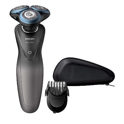 Philips S7960/17 - Afeitadora Eléctrica para Hombre, Rotativa Especial Pieles Sensibles, Recortador de Barba, Estuche de Viaje, App de Cuidado de la ...