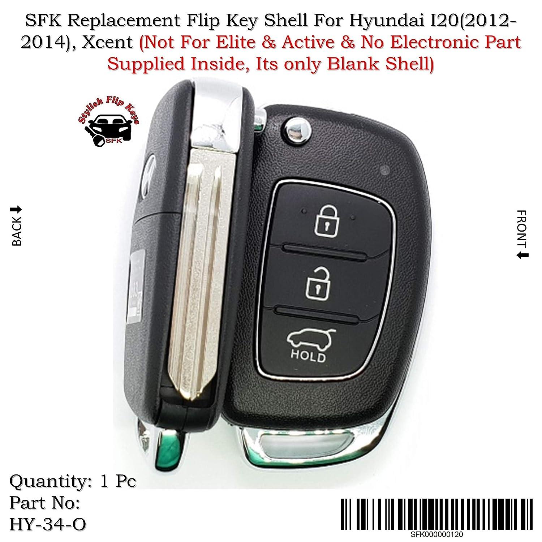 Sfk Replacement Flip Key Shell For Hyundai I20 Verna Xcent Amazon