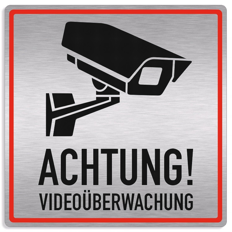 Cartel de videovigilancia en alemán