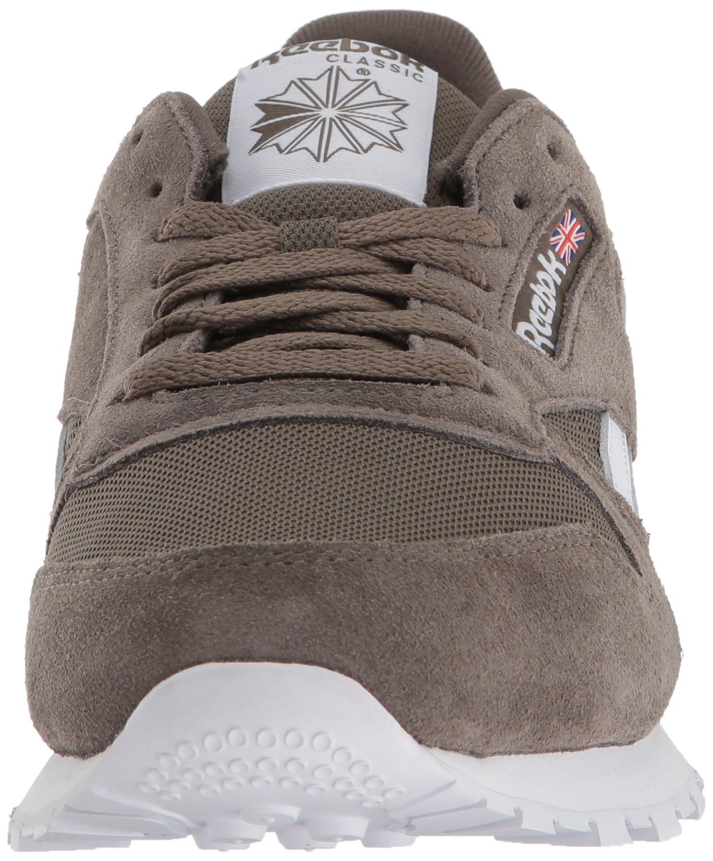 Reebok Men's Classic Leather Walking Shoe, Estl-Terrain Grey/White, 9 M US