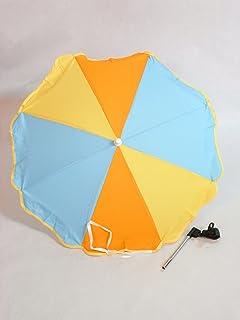 SOMBRILLA carrito bebe MULTICOLOR. Parasol muy fácil de acoplar al carrito, incluye Flexo para
