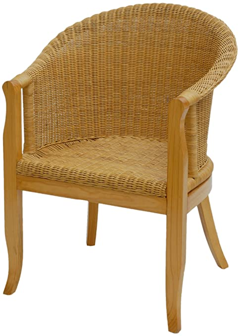 Korboutlet Rattan Sessel Mit Holzbeinen Sessel Aus Echtem Rattan