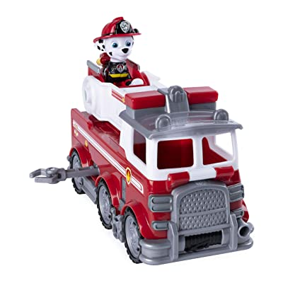 Paw Patrol Ultimate Rescue, Marshall's Ultimate Rescue Fire Truck with Moving Ladder & Flip-Open Front Cab, for Ages 3 & Up: Toys & Games