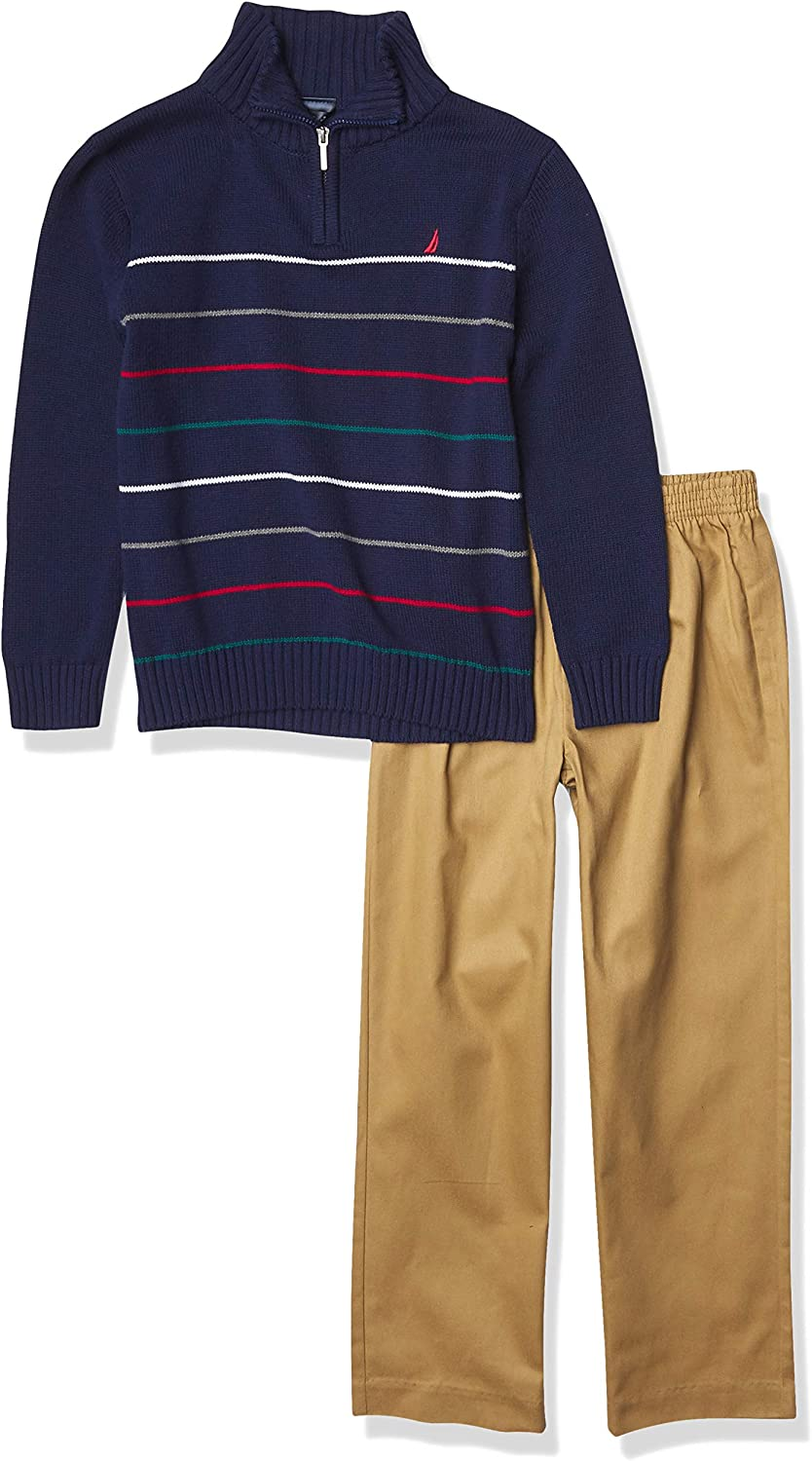 Nautica Boys' 2 Piece Sweater Set with Pants