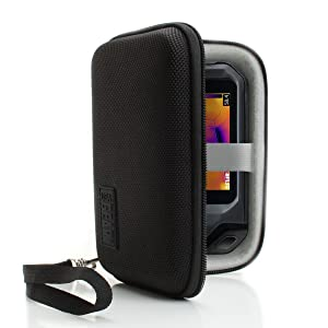 USA Gear Hard Protective Thermal Imager Carrying Case - Compatible with FLIR C2, C3, Seek Reveal, XR, PRO, Fastframe XR, PerfectPrime IR0005, and More Thermal Imagers - Black