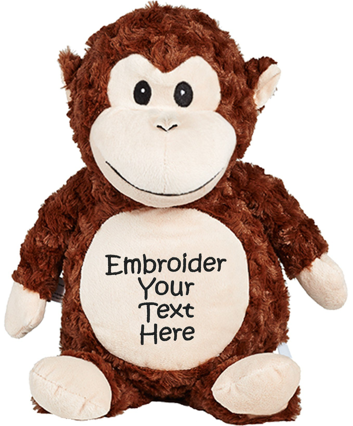 Personalized Stuffed Monkey with Four Lines of Embroidery
