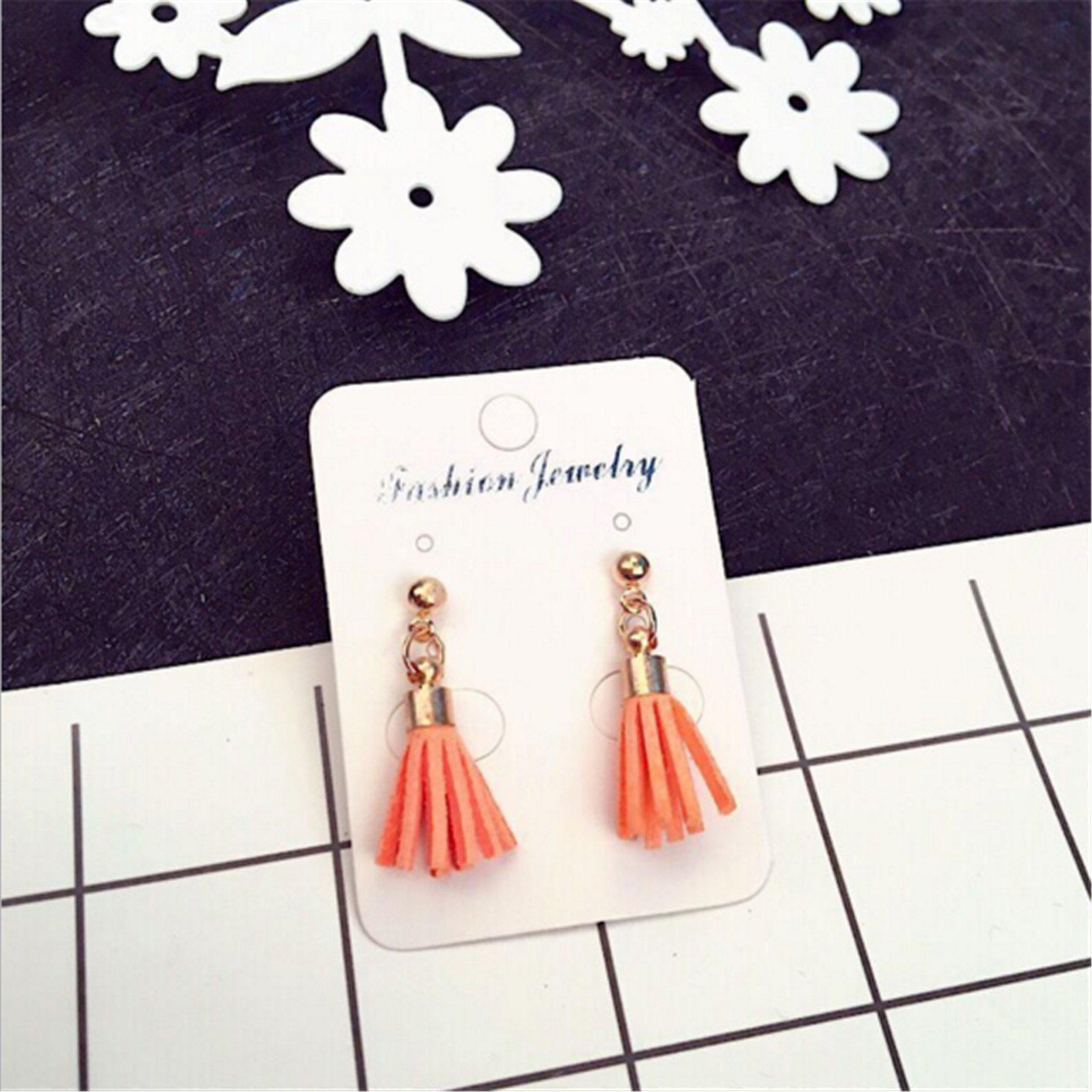 Cute Fresh Earrings Alloy Tassel Female Earrings,Orange