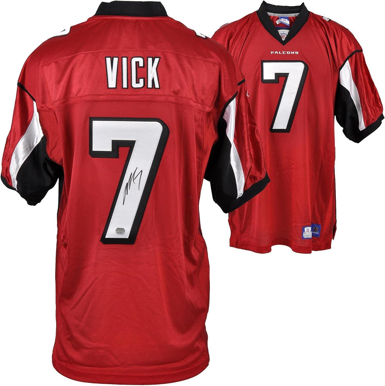 Michael Vick Atlanta Falcons Autographed Reebok Red Jersey ...