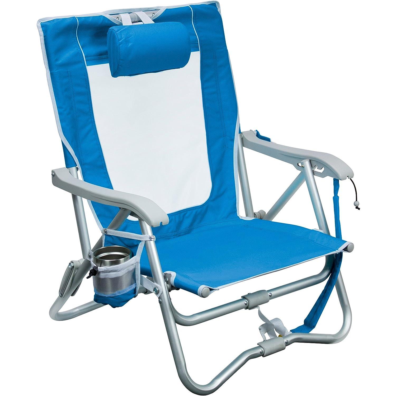 63583 GCI Outdoor Waterside Bi-Fold Slim Compact Beach Chair Inc