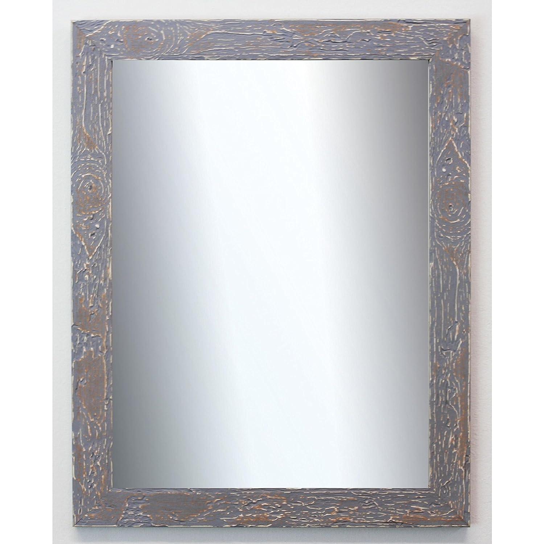 84,1 x 118,9 cm Antik Spiegel Wandspiegel Badspiegel Flurspiegel Garderobenspiegel /Über 200 Gr/ö/ßen Au/ßenma/ß des Spiegels DIN A0 - Wunschma/ße auf Anfrage Barock Parma Grau 3,9