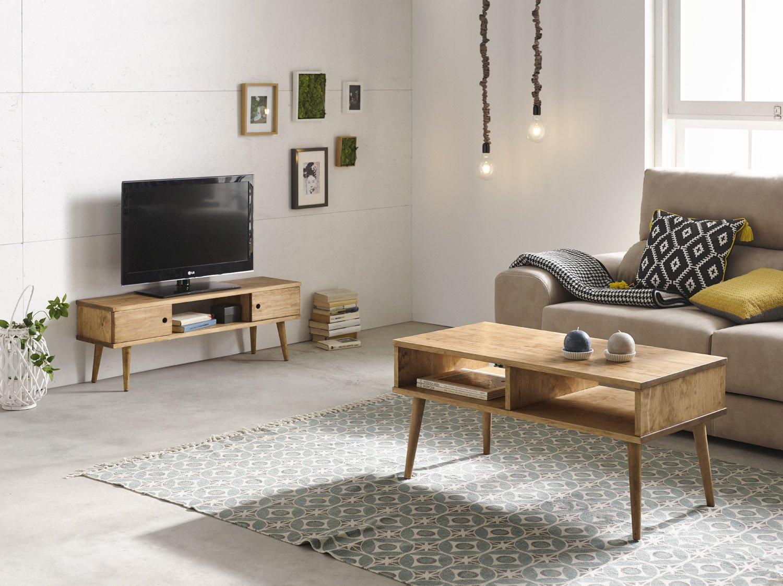 /Mueble TV escandinavo Color Blanco Mate con Gris Brillante Vivaldi Sweden/ Eclairage a la LED Azul.